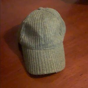 Free People Green Knit Baseball Cap